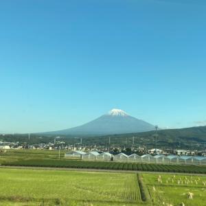 富士山がきれい。ラッキーなはじまり