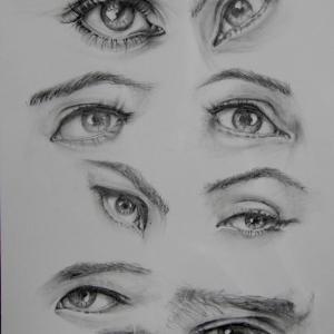眼の鉛筆画です。