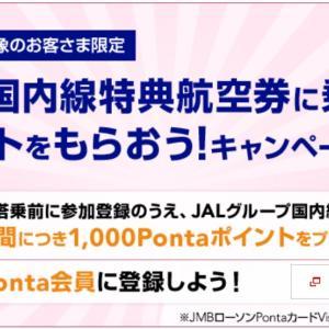 JAL☆搭乗&キャンペーンに参加してPontaポイントを貰おう!JALマイルにも交換可能