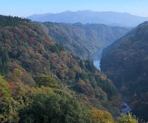 104:蘇陽峡 〜紅葉を求めて〜 (長崎鼻展望台から)