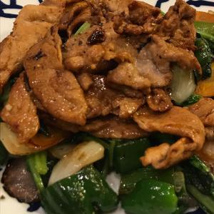 豚肉の黒酢生姜焼き