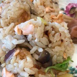 鮭とさつま芋の炊き込みご飯