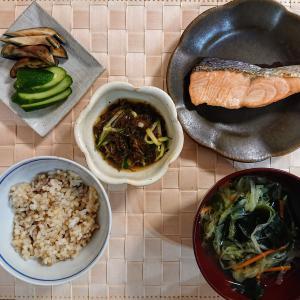 ダイエットトレーナーのごはん♡さっぱり鮭定食♪