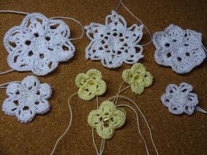 レース編みの花