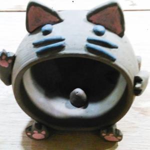 ネコのスピーカーを作成中
