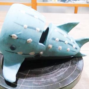 ジンベイザメのスピーカーを作成中