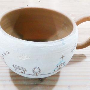 コロコロ搔き落としカップを作成中