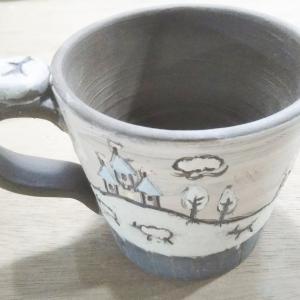 ヨーロッパの古城のマグカップを作成中