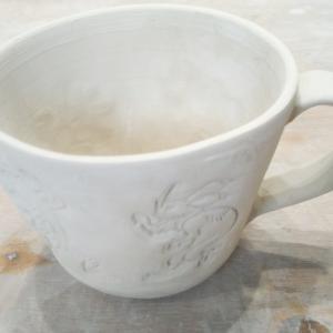 鳥獣戯画のマグカップを作成中