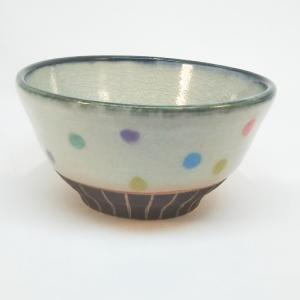 カラフルドット茶碗