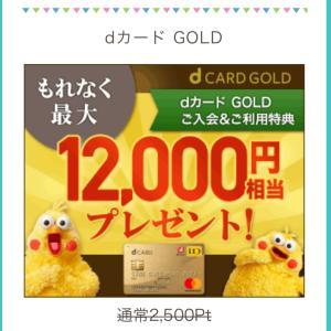 【dカード💳ゴールド】クレジットカード発行で最大34,000円相当をゲットしましょー(^^)