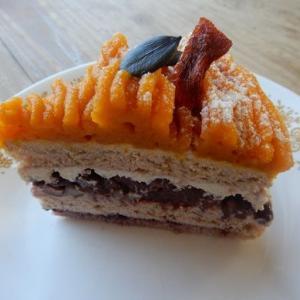 本日のケーキのピックアップ カボチャモンブラン