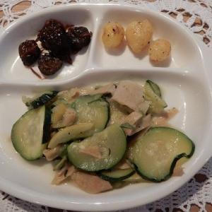 本格的な 夏がやって来た!! 瓜を使った 昨日の晩のおかず。瓜がうり