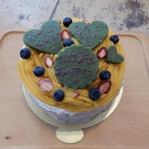 旅立っていった カボチャでモンブラン風 ホールケーキ