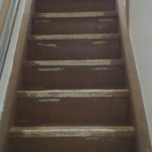階段パンチ廊下タイルカーペット。
