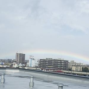 虹の架け橋 皇居に架かる♪