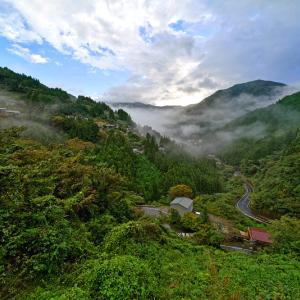 雨上がりの西祖谷山村の風景 (徳島県 三好市)