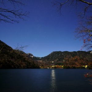 奥日光 湯ノ湖畔の夜 (栃木県 日光市)