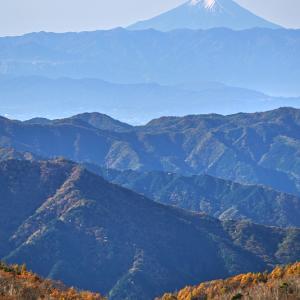半月山から富士山を望む (栃木県 日光市)