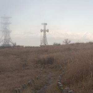 朝霧の道 (高ボッチ高原/長野県 塩尻市)