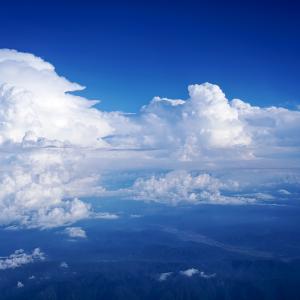 天空の氷山 (長野県 上空)