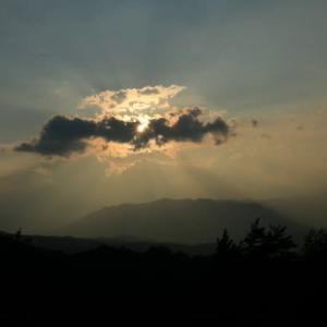 2020年8/9~キビオ峠~御嶽山の夕焼け