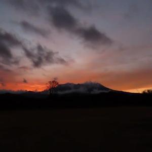 2020年12/13~初冬の御嶽山と夕焼け