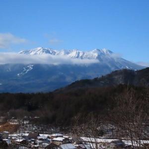 2020年12/23~今日の御嶽山とコゲラ君