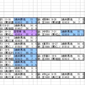 2020 京成杯 出馬表と分類表