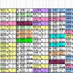 2020 日本ダービー 出馬表と分類表