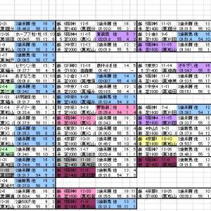 2021 アーリントンC 出馬表と分類表