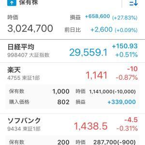 株の入れ替え完了(≧∇≦)