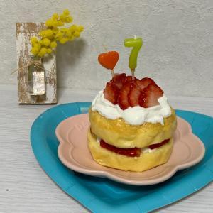 愛犬の誕生日ケーキ