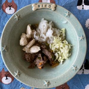 ニコの手作り犬ごはん 6.11-6.12