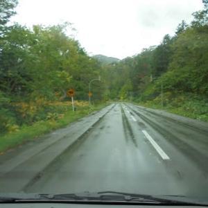 雨予報の中のドライブ