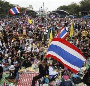 タイの反政府デモ。