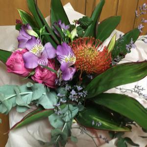 お誕生日にお花をお届けしました