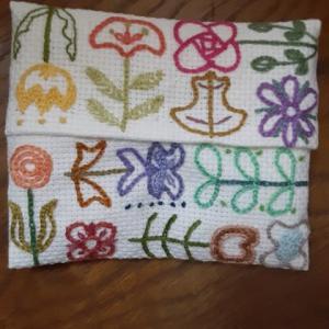 花咲く散歩道!の刺繍