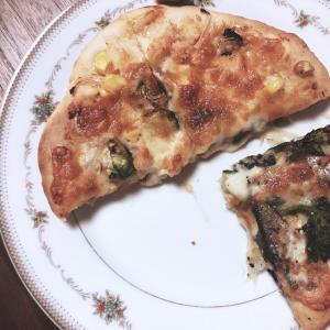 備蓄でピザ