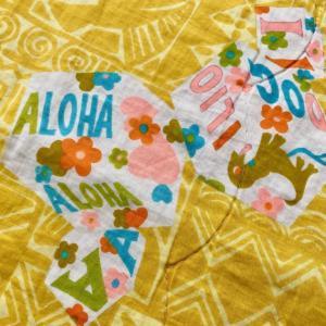 ハワイのスリフトで見つけた「Hawaiian Alphabet」の赤ちゃん用ブランケット