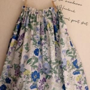 作ったスカートを履いてみた