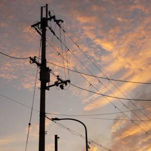 9月のある日の朝焼けと夕焼け