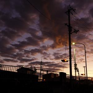 散歩前の空