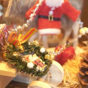 玄関の下駄箱の上は、クリスマス♪