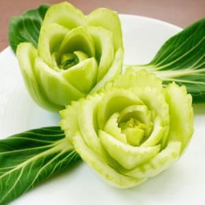 青梗菜のバラ~カービング