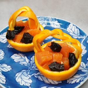 オレンジのカービング~器として、3種類