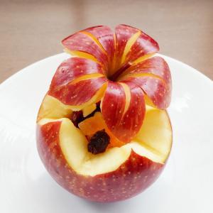 りんごのカービング~りんごの蓋つき器