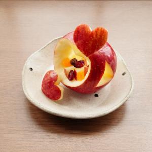 りんごのカービング~りんごの器