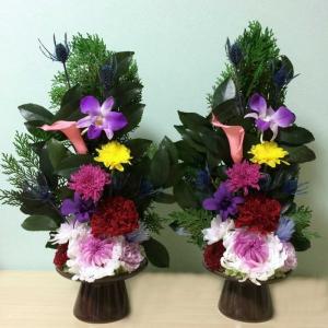 花器再利用の盛り花仏花のオーダー