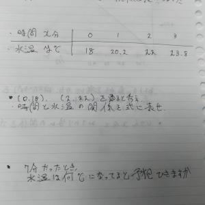 教育メモ 一次関数の文章題 1